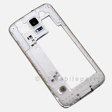 Samsung Galaxy S5 G900V Rear Back Housing Middle Bezel Frame Camera Lens Silver