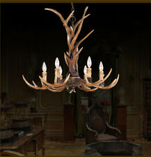 Hot Sell Candle Antler Chandelier Resin Deer Horn Lamps Home Decoration Lighting