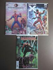 Spiderman deadpool 47 major x #1 and deadpool 10 first prints 2019