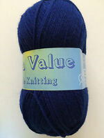 Value Double Knitting Wool / Yarn 1 X 100g ball Various Colours