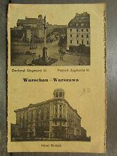 cpa pologne warschau warszawa varsovie hotel bristol denkmal siegmund III