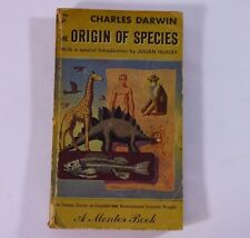 Charles Darwin The Origin of Species A Mentor Book Feb 1960 Evolution Paperback