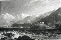 Albania, VLORA VLORE BAY GULF & MOUNTAINS SAILBOATS ~ 1829 Art Print Engraving