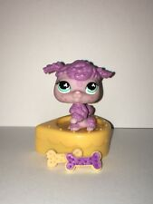 Littlest Pet Shop Rare Exclusive Purple Poodle Dog with Freckles #561 Blue eyes