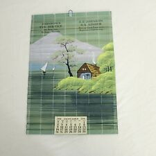 1938 Calendar Johnsons Eye Service E.E Johnson A.A.Linder Furniture Holrege NE