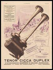 PUBLICITE AVERTISSEUR TENOR CICCA  ACCESSOIRES  AUTOMOBILE    AD  1932 -2H