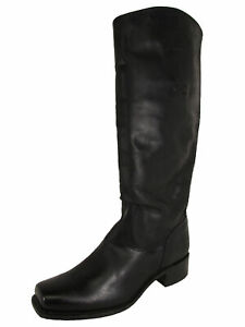 $378 Frye 150th Anniversary Womens Cavalry Riding Boots, Black, US 8