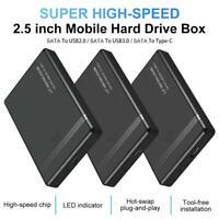 SATA 2.5-inch USB2.0 3.0 Type-C 3.1 5Gbps Laptop External Hard Drive Enclosure