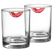 28cl ; 4 unidades vasos de agua vasos jugo Ikea flimra vasos cristal claro; estampadas;