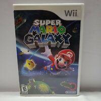 Super Mario Galaxy (Nintendo Wii, 2007) Complete with Manual CIB