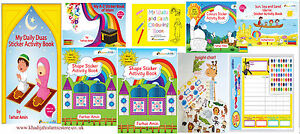 Islamic Activity Book-Islamic Activity with Fun stickers,idea for Kids