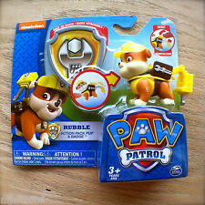 Nickelodeon PAW PATROL RUBBLE Action Pack JACKHAMMER Pup Snap-On BADGE NEW Tool
