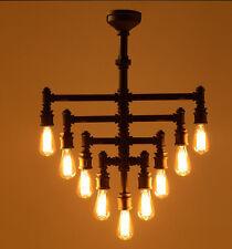 INDUSTRIAL Steampunk Lampadario Illuminazione Iron Pipe Edison Lampadina da Soffitto 9 BRACCIA