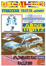 DECAL 1/43 MAZDA 323 4WD H.MIKKOLA RAC R. 1989 9th (09)