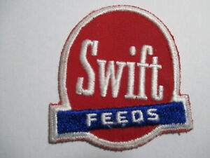 Swift Feeds, Embroidered, OLD,Vintage Patch ,NOS, 2 3/4 x 3  INCHES