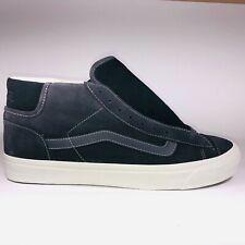 VANS OG Mid Skool LX Suede Asphalt Black Skateboard Sneaker Sz 10.5 VN0A3DP7JMM