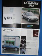 N°4309 / Austin rover la gamme 1988 catalogue en français