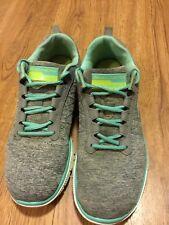 Skechers shoes Memory Foam Women Sport 9 Lightweight Gray/Green/white