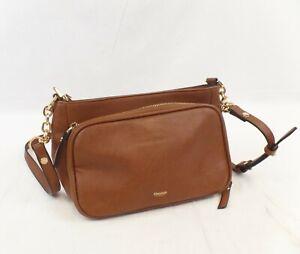 Dune London Ladies Brown Leather Shoulder Bag.