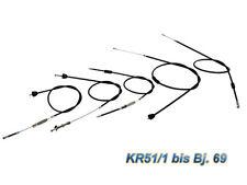 Conjunto de cable enfundado KR51/1 hasta año FAB.69 negro completo (5 piezas