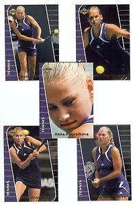 ANNA KOURNIKOVA 2000 Collector's Edge *GLOSSY* - 5 Card Tennis SET - 1st Cards!