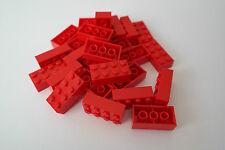 25 Lego Bausteine 2x4 rot NEU Grundsteine Basic Steine 3001