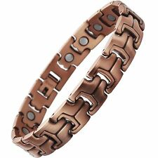 Womens 19 Magnets 3500 Gauss Copper Bracelet Arthritis Magnetic Therapy Stress