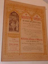 1923 ancien PARTITION old sheet music OPERA motu proprio PIE X orgue ORGAN messe