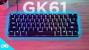 GK61 61 Key Mechanical Keyboard USB Wired LED Backlit Axis Gaming Mechanical Key