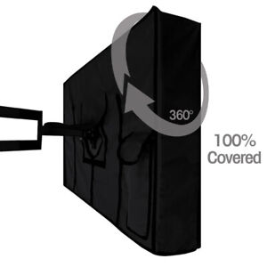 """30""""-65"""" 600D Oxford 360° Waterproof TV Cover Outdoor Television Bottom Protector"""