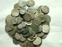 Lot of 3 original Islamic silver akce coins/Ottoman Empire Sultan unidentified