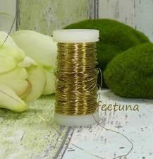 10 m Draht (0,10 €/m) Floristendraht Dekodraht  Myrtendraht  Kupferdraht gold