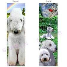 BEDLINGTON Terrier BOOKMARK White DOG Card Book Mark Card Art FIGURINE Ornament