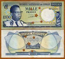 Congo D.R., 1000 Francs, 1964, P-8, aUNC