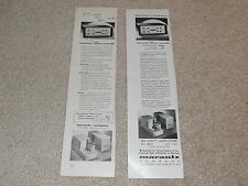 "Marantz Tube Model 7, Stere Console Ads(2), Articles, 3""x11"" Rare 1957 Originals"