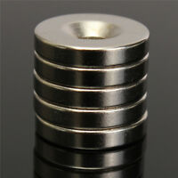 5Pcs 15x3mm N52 Rare Earth Neodymium Strong Magnets Round Disc Blocks with Hole