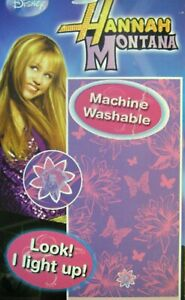 Disney Hannah Montana Beach Towel 100% Cotton Purple Flowers Large