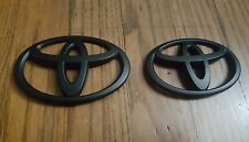 (2) Toyota GT86 Matt Front & Rear Black Badge Scion FR-S ZN6 Emblem Logo JDM