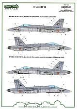 Model Maker Decals 1/72 F/A-18A HORNET Spanish AF Standard Markings & Stencils