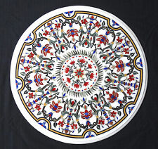 """36"""" Marble Dining Center Table Top Handicraft Floral Art Patio Outdoor Decor"""