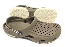 Crocs Swiftwater Deck Clog Khaki/ Oyster Mens Size 10 NEW