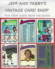1976-77 TOPPS HOCKEY  SEE SCANS # 136 to # 261