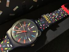 SWATCH CLUB SPECIAL MILANO 2017 CELEBRATE SUOZ713QS NEW IN BOX RARE LIMITED
