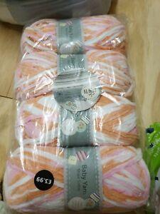 SO CRAFTY BABY YARN  4 X 100g aldi chenille wool
