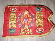 The Queen's Royal Irish Hussars Guidon flag.