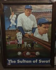 """1988 SPORTS IMPRESSIONS BABE RUTH """"THE SULTAN OF SWAT"""" 16x20 FRAMED"""