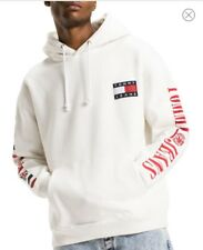 White - Tommy Hilfiger Jeans 90's Capsule Collection Men Flag Hoodie XS
