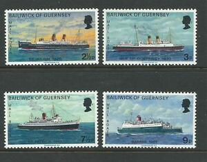 Guernsey 1973 Mail boats set of 4 Complete MUH/MNH