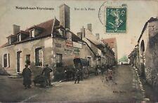 Rare CPA Nogent-sur-Vernisson, Loiret (45) Animée colorisée Rue de la Poste.