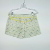 Trina Turk Womens Size 2 Shorts White Geometric Pattern